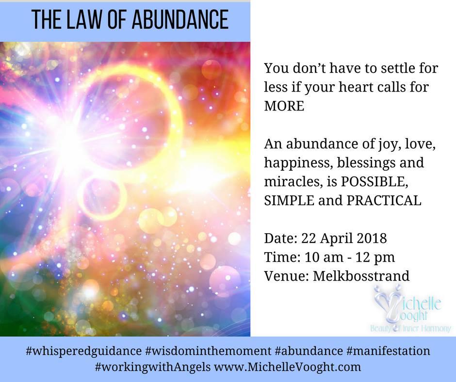 The Spiritual laws of Abundance Workshop