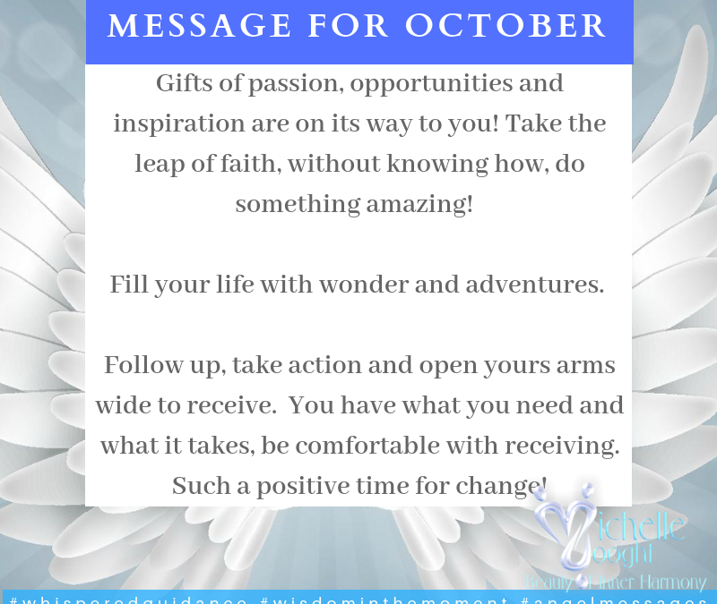 Message for October 2018