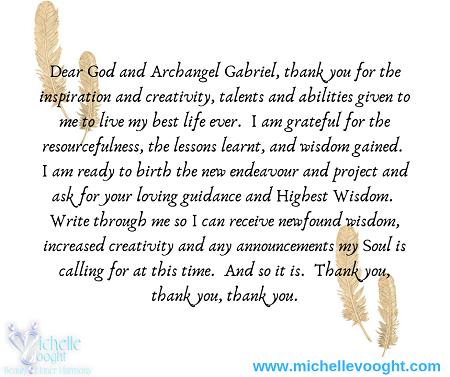 Creativity with Archangel Gabriel