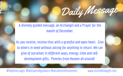 n Angel, A message and A prayer for December 2018