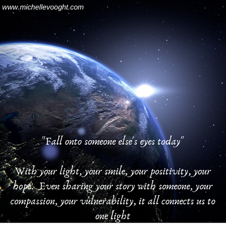 Fall onto someone's eyes today